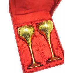"""Бокалы бронзовые, позолоченные Индийские набор 2 шт/250мл. Goblet 9""""Set -2ps GOLD)"""