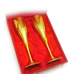 """Бокалы бронзовые, позолоченные Индийские набор 2 шт/160мл 7""""Set -2ps GOLD)"""