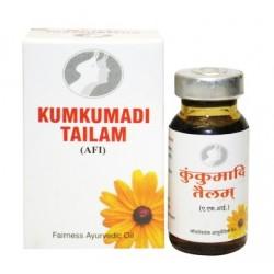 Масло для кожи омолаживающее Кумкумади Таилам, Кumkumadi Тailam, Vyas, 12мл