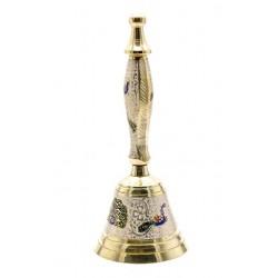 Колокольчик с ручкой бронзовый цветной, Bell Cld med.big