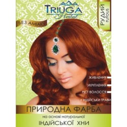 Краска Рыжая для волос на основе натуральной Хны Триюга-ОМ, Triuga Herbal 25грамм