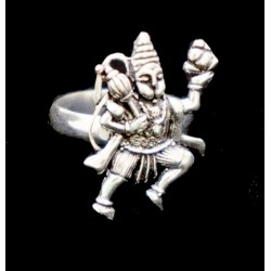 Кольцо Хануман белый метал 2см