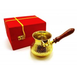 Турка бронзовая посеребренная в футляре 0,7л. Velvet Box-Turky Lota Silver