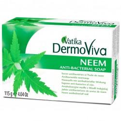 Мыло натуральное антибактериальное с Нимом Дабур Ватика, Vatika Dermoviva Neem Soap, 115грм