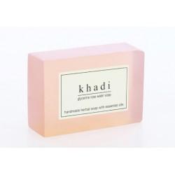 """Мыло """"Розовая вода"""" Кхади Herbal Rose Water Soap, Khadi"""