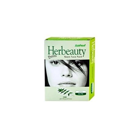 Маска для лица Ним для номальной и сухой кожи Neem Sahul 100грамм