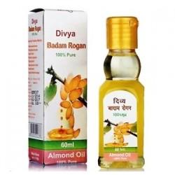 100% Миндальное масло Дивья, Divya Badam Rogan Almond Oil 60мл