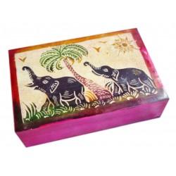 Шкатулка Индийская со Слониками