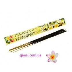 Благовония Франжипани любимый цветок Шри Кришны, Frangipani HEM, 20аромапалочек