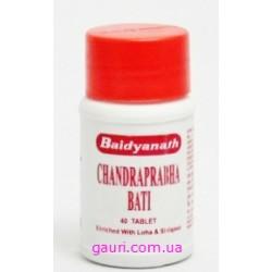 Чандрапрабха Бати Бадьянатх, Chandraprabha Vati Baidyanath, 40таблеток