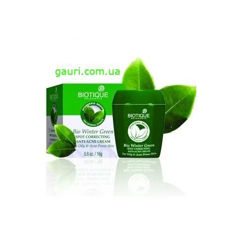 Крем с маслом грушанки для лечения прыщей и угрей Био Грушанка Биотик, Bio Winter Green Correction and Anti-Acne Cream Biotique