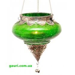 Светильник подвесной в арабском стиле. Арт. 9050025-3, зелёный