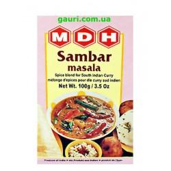 Самбар Масала для блюд из риса и овощного супа, Sambar Masala, MDH, 100грамм