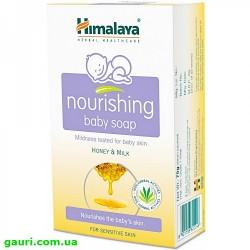 Мыло детское Мед & Молоко, Хималая, Baby Soap Himalaya, 75грамм