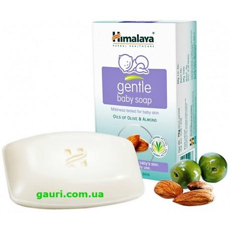 Мыло детское увлажняющее Олива и Миндаль, Хималая, Gentle Baby Soap Olive and Almond, Himalaya, 75грамм