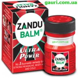 Бальзам Занду от болей в спине, мышцах и головных болей, Ультра Сила, красный, Balm Zandu Ultra Power Zandu, 8грамм