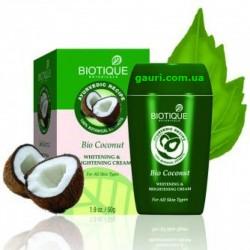 Био Кокосовое молоко крем при пигментации недостатках Bio Coconut Milk Cream - Skin Whitening and Depigmentation Cream, 55грамм