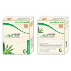 Маска для лица натуральная Алоэ вера Кхади, Aloevera Herbal Face Pack Khadi, 100грамм