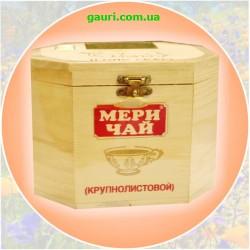 Черный Индийский высококачественный чай Мери Чай Ассам 200грм., Meri Chai WOODEN CHESTLET ASSAM TEA