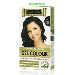 Краска-гель Долина Инда 100% натуральная, Тёмно-коричневый, 100% Botanical Gel Hair Colour Dark Brown 3.0, Indus Valley
