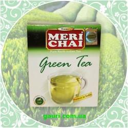 Зеленый Индийский Чай, Мери Чай, крепкий и ароматный, 100 грамм