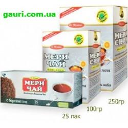 Чай с Бергамотом, Чёрный Индийский Мери Чай, Meri Chai Earl Grey, 25пакетиков
