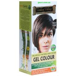 Краска-гель Долина Инда,100% натуральная, Коричневый средний, 100% Botanical Gel Hair Colour Medium Brown 4.0, Indus Valley