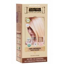 Краска Долина Инда, Золотистая Пшеница Блонд, 100% Органическая, 100% Botanical Hair Colour Golden Wheat Blonde, Indus Valley