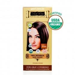 Краска Долина Инда, Коричневая, 100% натуральная и органическая, 100% Botanical Hair Colour Brown, Indus Valley