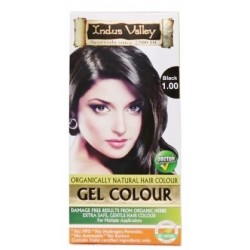 Краска-гель Долина Инда, Чёрный, натуральная, Gel Hair Colour Black 1.0, Indus Valley, 250грамм