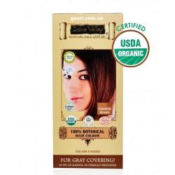 Краска Долина Инда, Каштан, 100% натуральная, органическая, 100% Botanical Hair Colour Chestnut Brown, Indus Valley