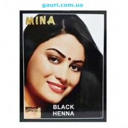 Краска для волос на основе Хны Чёрная, Mina Black, 10 грамм