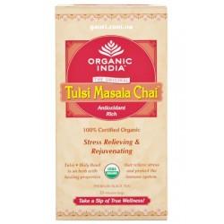 Чай органический Тулси, Базилик-Масала, Слим-пакет, Tulsi-Masala, Organic India, Zipper, 100грамм