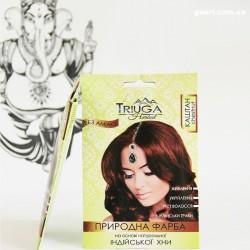 Краска Каштановая для волос на основе натуральной хны Триюга-ОМ, Triuga Herbal 25грамм