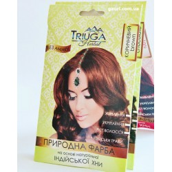 Краска природная Триюга Коричневая для волос на основе натуральной хны Триюга-ОМ, Triuga Herbal, 25грамм