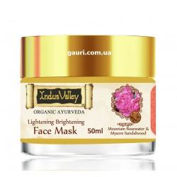 Осветляющая питательная маска для лица с Сандалом, Розой, Жожоба, Долина Инда, Indus Valley Lightening Brightening Face Mask