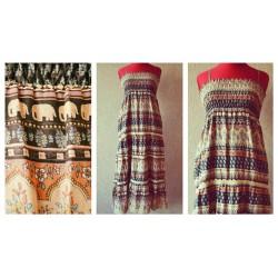 Милое платье-юбка со Слониками, немного Индии :) 100% коттон