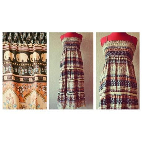 Милое платье-юбка со Слониками немного Индии :) 100% коттон