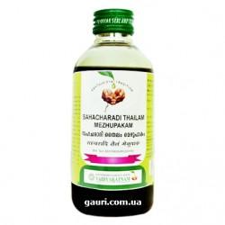 Массажное масло Сахачаради Таил, при ревматических болях и варикозном расширении вен, Sahacharadi Tailam