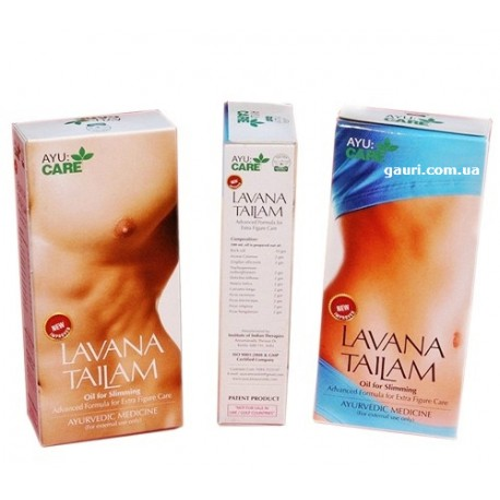 Лавана Таил, Лавана Тайлам, массажное масло для похудения, AyuCare Lavana Thailam, Tailam Oil, 100мл