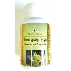 Гокшуради Гугул, оздоровление мочеполовой системы и всего организма, Dehlvi, Gokshuradi Guggul, 60капсул