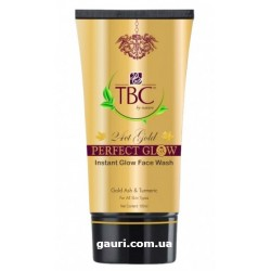 Гель для умывания золото 24 карата, 24 Ct Gold Perfect Glow Instant Glow Face Wash Proveda Herbals TBC, 100мл