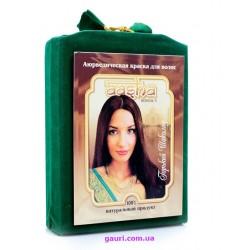 Аюрведическая краска для волос, Горький Шоколад, Ааша Хербалс, Aasha Herbals