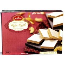 Каджу Катли, Индийские сладости из Орехов Кешью с серебрянной фольгой, Haldirams Kaju Katli