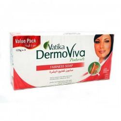 Отбеливающее мыло 3 по 125 грм, Vatika DermoViva Дабур