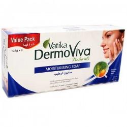 Увлажняющее мыло 3 по 125 грм, Vatika DermoViva Дабур