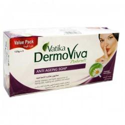 Аюрведическое мыло - Против старения VATIKA DERMOVIVA Naturals Anti Aging 3 шт по 125 грамм