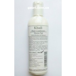Травяной кондиционер Хна Сат Кхади с Брахми и Хной, Khadi, Hair Conditioner Heena Sat With Brahmi and Heena, 210мл