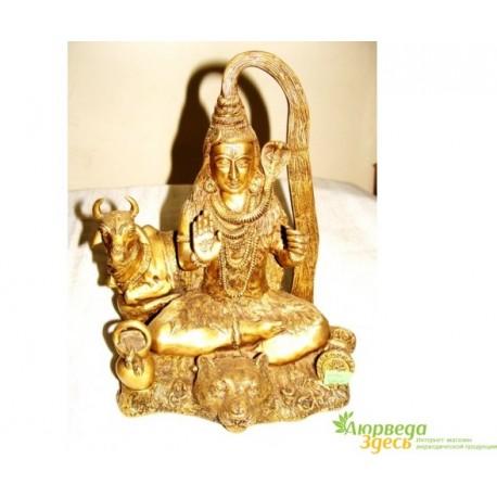 """Бронзовая статуэтка """"Шри Шива и Нанди"""" высота 26 см., вес 4,06 кг."""