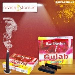 Благовоние безосновное Hari Darshan Gulab (Rose) Dhoop, мягкое с ароматом Розы